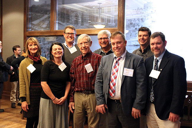 TVA representatives join Etnier, Kalisz, and Ichthyology staff for photo before the reception.