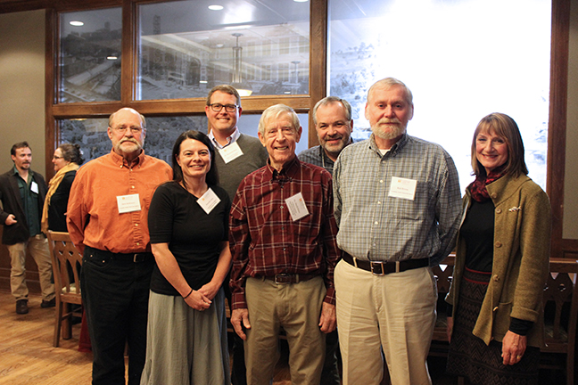 TWRA representatives join Etnier, Kalisz, and Ichthyology staff for photo before the reception.